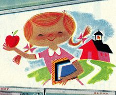 1958 Norge Back-to-School Ad Detail by Neato Coolville, via Flickr