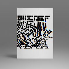 HV Font | DE 2014 | 100/1 | Glitch Experiment on Behance