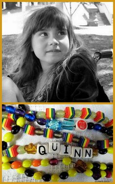 Quinn and her Beads Of Courage.