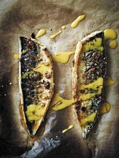 Roasted Mackerel with Garlic and Paprika