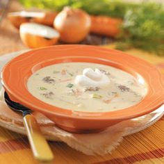 Cheeseburger Soup with Rice-- Made this for supper, without the celery.....pretty yummy!