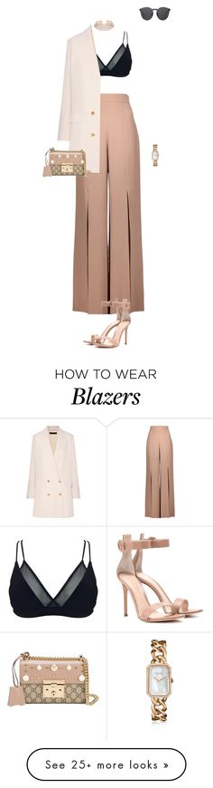 """Untitled #622"" by ducle1910 on Polyvore featuring Cushnie Et Ochs, OuiHours, The Row, Gucci, Gianvito Rossi, Chanel and Illesteva"