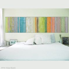 """Art canvas painting Wall Art,  Modern abstract art 32 x 24""""each Wall Décor Set of 3 Ready to Hang stripes Free Shipping"""