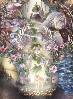 The Legend of Zelda Majora's Mask & Twilight Princess fan art | #MM3D #3DS #2015