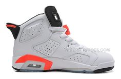"270d753d6b0938 Air Jordan 6 (VI) Retro ""Infrared"" White Infrared-Black. Nike SneakersCheap  ..."
