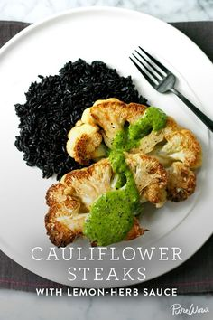 Easy cauliflower steaks with lemon-herb sauce via @PureWow