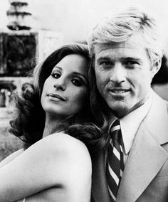 Lean on me. Barbra Streisand and Robert Redford in The Way We Were, 1973