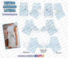 how to pair outfits Easy Sewing Patterns, Sewing Tutorials, Clothing Patterns, Dress Patterns, Sewing Projects, Pattern Draping, Sewing Blouses, Diy Kleidung, Modelista