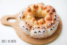Totoro & Brown Bear Pull-Apart Bread Bun - I Cook Different Cute Food, Good Food, Yummy Food, Japanese Bread, Little Lunch, Bento Recipes, Pull Apart Bread, Bread Bun, Creative Food