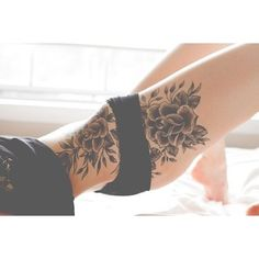 40 Sexy Hip Tattoo Designs For Women ❤ liked on Polyvore featuring accessories…