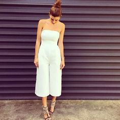 Sunday styling in the Tube Culotte Jumpsuit, Brazillia Heels & Nexus Anklet Set, shop now in Boutiques & Online xx #kookai #sundayst