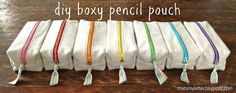 """That's My Letter: """"B"""" is for Boxy Pencil Pouches"""