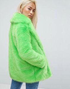 e3ff4b31116a Jakke Mid Length Faux Fur Coat