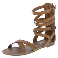 Girl's Tall Gladiator, Tan