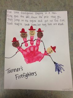 5 little firefighters, community helpers