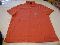 Mens Calvin Klein short sleeve polo XL shirt 588597 842 Corelli 41s8183 NWT #CalvinKlein #PoloRugby