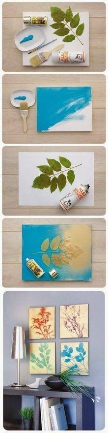 dekorolog: Kendin Yap: Yapraklardan Tablo Yapımı