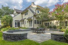 Patio of luxury home in Bronxville, New York