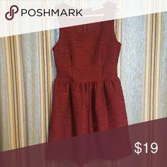 Wine Rewind Dress✂ Textured Skater Dress - Wine color  Only worn twice Rewind Dresses