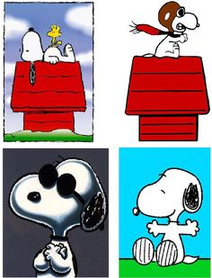 lot of 4 snoopy fabric panel quilt squares by 499