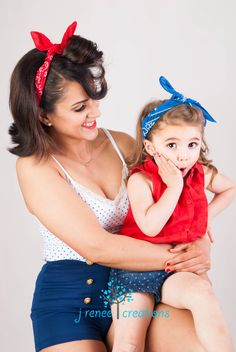 Did a twist on a classic 50s pinup look with a mother and daughter photo shoot! Short shorts, scarves, and tank tops give the perfect 50's look! mommy and daughter had a great time! photography by (me) J Renee Creations  printing and editing not permitted :)