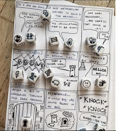 """The Story Cube Comic uses Story Cubes to create exciting comic tales. How do you use your cubes Do you combine them? English Games, English Fun, English Writing, Teaching English, Teaching French, Story Cubes, Fun Crafts For Kids, Games For Kids, Activities For Kids"