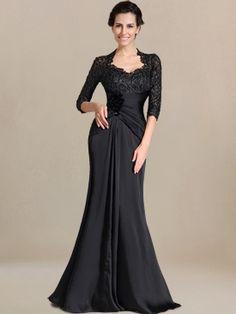 vintage mother of the bride dress_Black