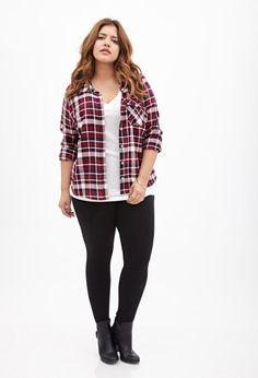f4b2f48125822 Plus Size Camp Shirt - Plus Size Fall Outfit - Plus Size Fashion for Women