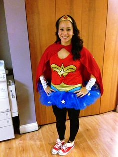 Homemade no sew wonder woman costume woman costumes wonder diy wonder woman costume i decided to keep things simple and just wear that solutioingenieria Image collections