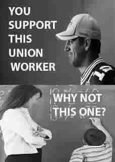 Unions - you support NFL union players, why aren't you supportive of teachers, firefighters, police, teamsters, mechanical, plumbing, auto & all other unions? Unions made everyone's work life better, support them, you benefit yourself.