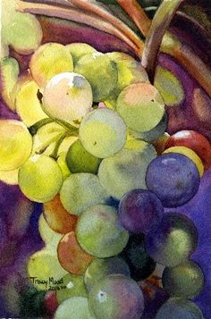 Happy Belated Birthday Silvia!  I'm sorry I missed the party yesterday, I was away from the computer - hope it was a special one!  Grapes Watercolour by Tracy Moad