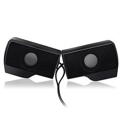 Zoostliss Portable Mini Clip-On USB Powered Stereo Computer Speaker Soundbar for Notebook Laptop PC Desktop Tablet