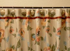 Shower Curtain for my lady. by LizzyPoppins on Etsy, $55.00