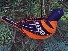 Baltimore Oriole Ornament PatriciaWelchDesigns