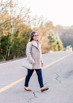 J. Crew Coat in New England | Sara Magnolia