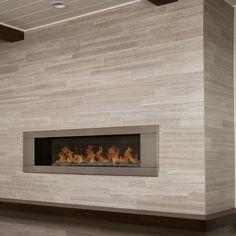 Surround your fireplace in Silver Beige Vein Cut Limestone from . Fireplace Tile Surround, Fireplace Redo, Fireplace Bookshelves, Limestone Fireplace, Small Fireplace, Concrete Fireplace, Bedroom Fireplace, Farmhouse Fireplace, Marble Fireplaces