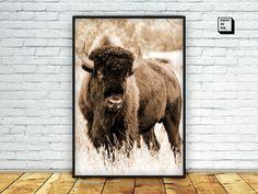 Buffalo print buffalo wall art buffalo photography by PrintmyInk