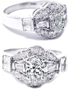Oval vintage Diamond Engagement Ring...Vintage jewlery just has something that modern does not.