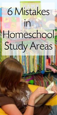 6 Mistakes When Creating a Homeschool Space