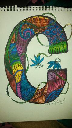 C colored Flower Alphabet, Flowers, Color, Art, Art Background, Colour, Kunst, Performing Arts, Royal Icing Flowers