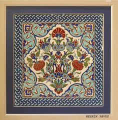 This is a truly exquisite tile. Turkish Art, Turkish Tiles, Islamic Tiles, Islamic Art, Textiles, Textile Patterns, Tile Art, Mosaic Tiles, Arabesque Tile