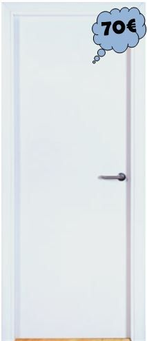 Puerta Blanca Hueca Ref. ML LISA BLANCA