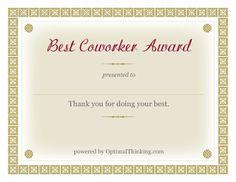 co-worker award