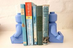 blue lego bookends by Bigkid Design on hellopretty.co.za