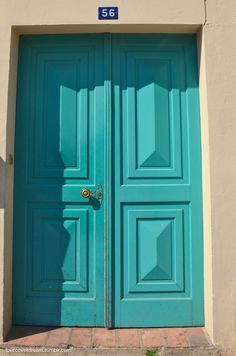 lovecovetdream:  Number 56 - your doors are a welcoming smile Saint Tropez, France