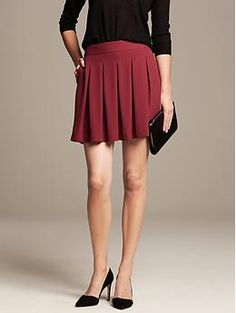 Box Pleat Skirt - bought this, it's a little short for work so I wear it with dark tights