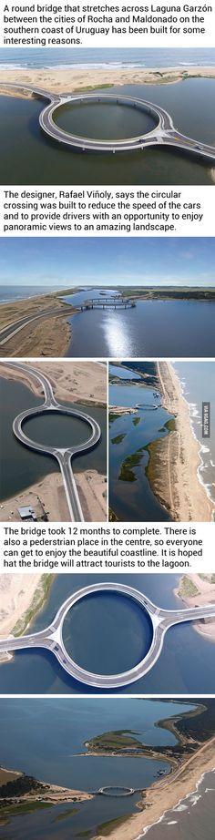 A new circular bridge in Uruguay is built for interesting reasons