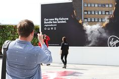 To support Virgin Media's launch of the 'Big Kahuna Bundle' we produced this bespoke billboard and anamorphic art piece at Westfield London