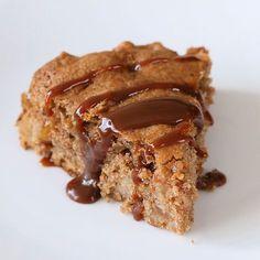 Vegan Spiced Apple Cake with Salted Caramel - Vegan Richa