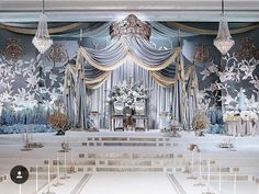 Planning for a fairy tale wedding? Then this inspo by could be the one for you! Straight from a storybook indeed, don't you… Wedding Men, Blue Wedding, Wedding Trends, Wedding Styles, Dream Wedding, Wedding Ideas, Debut Themes, Wedding Stage Backdrop, Wedding Mood Board